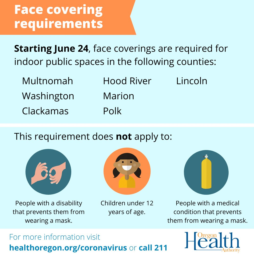 Face covering required as of June 24, 2020