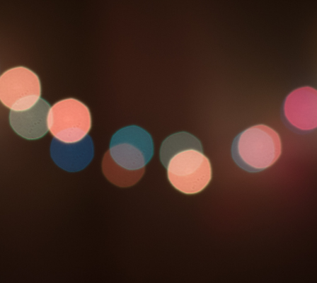 Blurred string of lights