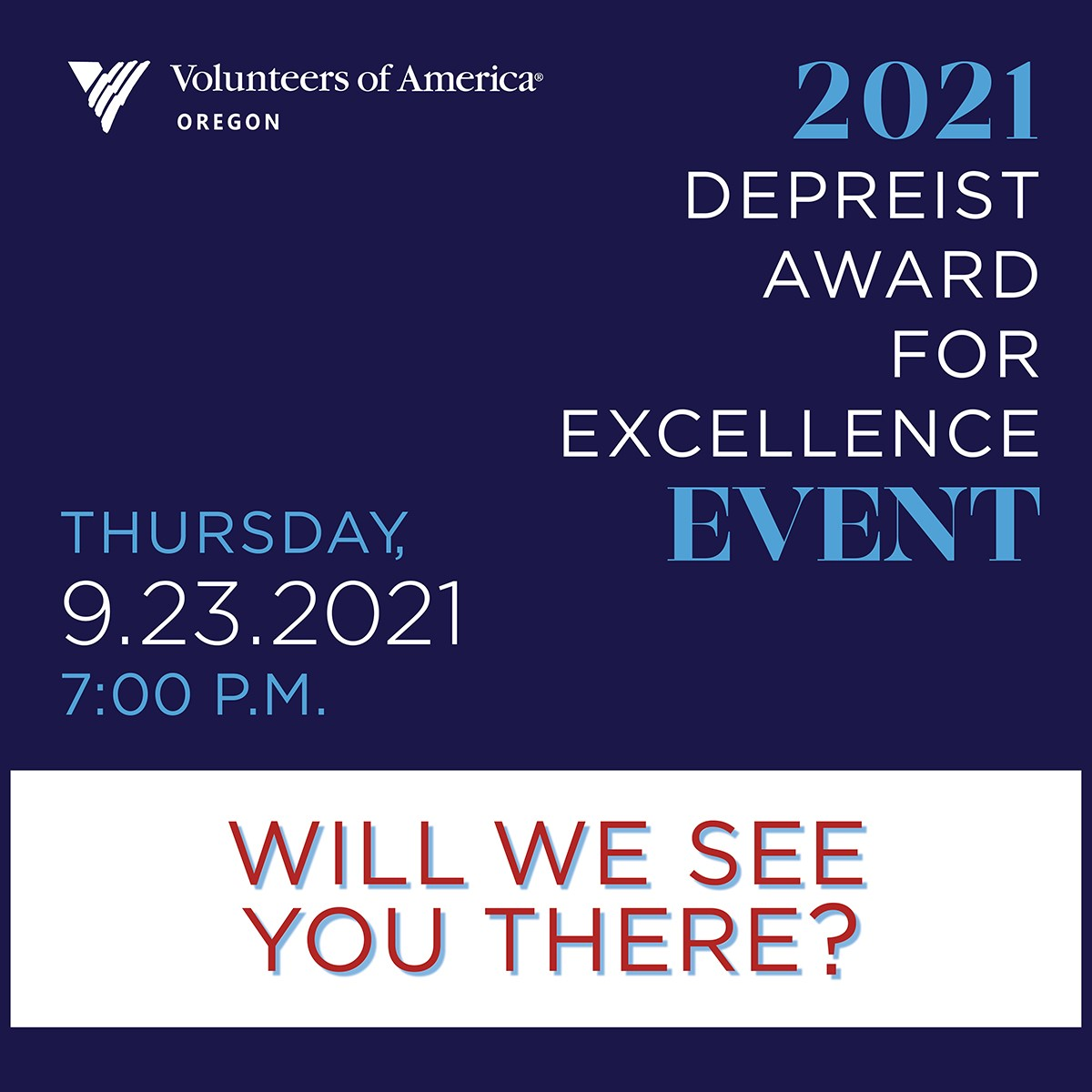 Will we see you there? Thursday 9/23/2021 7 PM