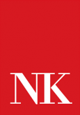 Neil Kelly logo, red box with N K in it