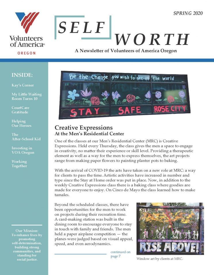 Spring Newsletter_2020_Cover page