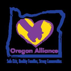Oregon Alliance logo, safe kids, healthy families, strong communities